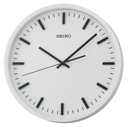 Seiko Unisex Wanduhren Kunststoff weiß QXA657W - 1