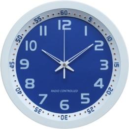 Technoline WT 8971 Funkwanduhr, weiß-blau - 1