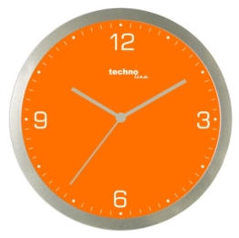 Technoline WT 9000 Quarzwanduhr, orange - 1
