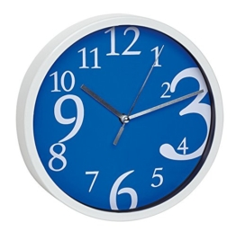 TFA-Dostmann Analoge Wanduhr TFA 60.3034.06 mit geräuscharmem Uhrwerk (Blau) - 1