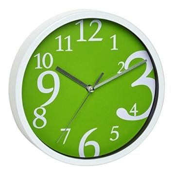 TFA-Dostmann Analoge Wanduhr TFA 60.3034.04 mit geräuscharmem Uhrwerk (Grün) - 1