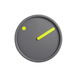 Time Pieces Wanduhr, Gelb auf Dunkelgrau, Ø 16 cm - 1