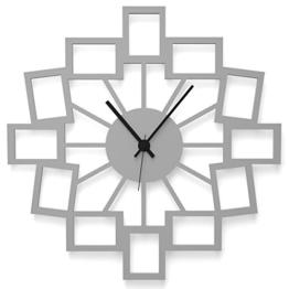 """Wandkings Wanduhr """"Kleine Fotos"""" aus Acrylglas, in 11 Farben erhältlich (Farbe: Uhr = Grau glänzend; Zeiger = Schwarz) - 1"""
