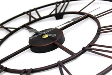 Wanduhr Metall Durchmesser 40cm Wanduhr Schwarz - 2