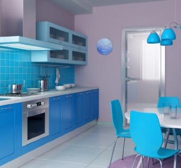 wanduhr mit motiv wassertropfen blau aus mdf holz runde. Black Bedroom Furniture Sets. Home Design Ideas