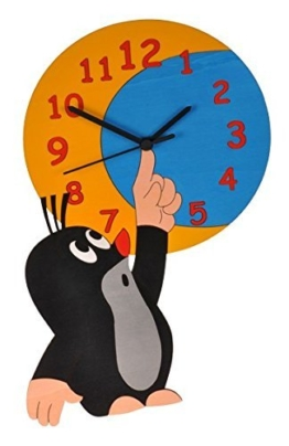 Wanduhr Uhr – der kleine Maulwurf – Kinderzimmer Kinderuhr - 1