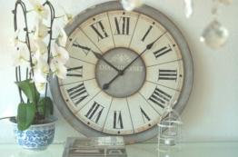 Zauberhafte Landhaus Wanduhr, Uhr im Shabby Chic, french Antik Chic, 60 cm, XXL - 1