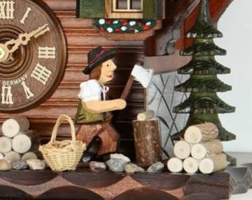 Kuckucksuhr/Schwarzwalduhr Chalet-Kuckucksuhren Kuckucksuhr 1-Tag-Uhrwerk Chalet-Stil 32cm von Hekasoriginal aus dem Schwarzwald von Hekas - 4