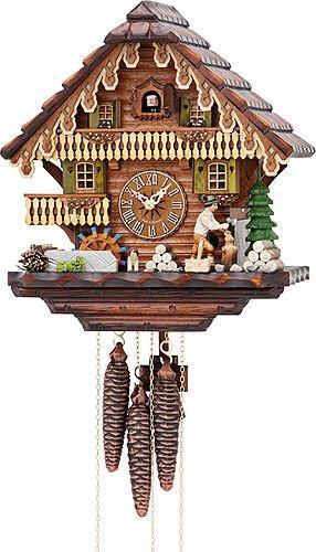 Kuckucksuhr/Schwarzwalduhr Chalet-Kuckucksuhren Kuckucksuhr 1-Tag-Uhrwerk Chalet-Stil 32cm von Hekasoriginal aus dem Schwarzwald von Hekas - 1