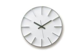 Lemnos AZ-0115 Edge Clock Aluminium groß, weiß - 1
