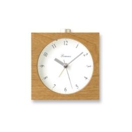 Lemnos PA09-10 Nocturne Alarm Clock, japanischer Design-Wecker mit Licht und leisem Uhrwerk, natur - 1