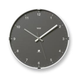 Lemnos T1-0117 North Clock 32cm japanische Design-Wanduhr mit klarem Ziffernblatt, grau - 1