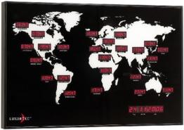 Lunartec Digitale Weltzeit-Uhr mit 24 Weltstädten - 1