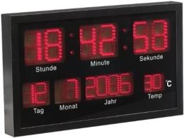 Lunartec Multi-LED-Uhr mit Datum & Temperatur - 1