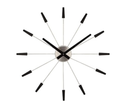 NeXtime 2610 zw Wall Clock Plug Inn, 60 cm metal / black - 1