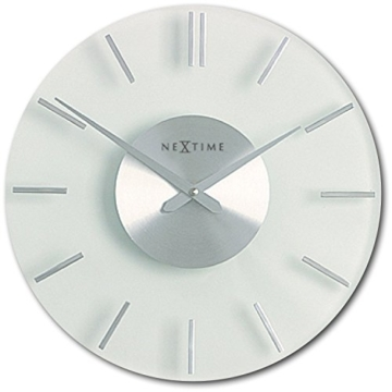 NeXtime 2631 Wall Clock, Stripe, 26 cm, glass - 1
