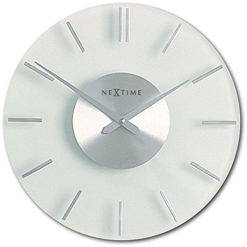 Nextime 2631 Wall Clock Stripe 26 Cm Glass