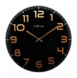 Nextime Classy Round Wall Clock, 30cm, Black - 1
