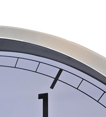 NeXtime Company Wanduhr, Küchenuhr, Uhr, Bürouhr, Wohnzimmeruhr, Deko, Aluminium, Glas, Weißes Ziffernblatt, Ø 35cm, 3080wi - 3