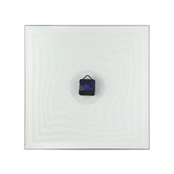 NeXtime Crazy Time Wanduhr, Küchenuhr, Uhr, Bürouhr, Wohnzimmeruhr, Deko, Glas Schwarz Weiß, 43 x 43 cm, 8177 - 2