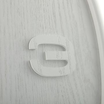 NeXtime Wood Wood Big Wanduhr, Küchenuhr, Uhr, Bürouhr, Wohnzimmeruhr, Deko, Holz, Weiß, Ø 53 cm, 3095wi - 6