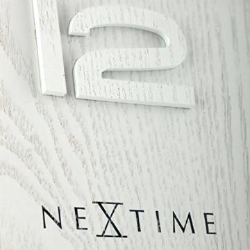 NeXtime Wood Wood Big Wanduhr, Küchenuhr, Uhr, Bürouhr, Wohnzimmeruhr, Deko, Holz, Weiß, Ø 53 cm, 3095wi - 7