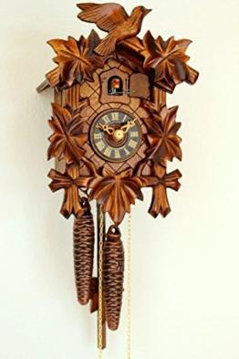 Original Schwarzwälder geschnitzte Kuckucksuhr mechanisch Vogel Handarbeit NEU - 1