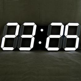 T Tocas (TM) 44 cm Bigger großen Zahlen Digital LED Wandhalterung Stunden / Minuten-Uhren mit Thermometer, Kalender, Snooze, Innenaufnahme , Weiß-LED-Anzeige - 1