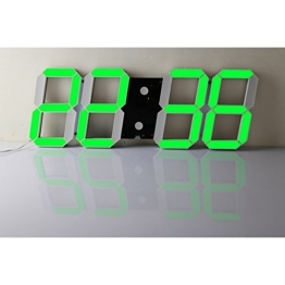 T Tocas (TM) 44 cm Jumbo großen Zahlen Digital LED Wand-on Uhren mit Thermometer, Kalender, Snooze, Innen, Green LED Stunden / Minuten Anzeige - 1