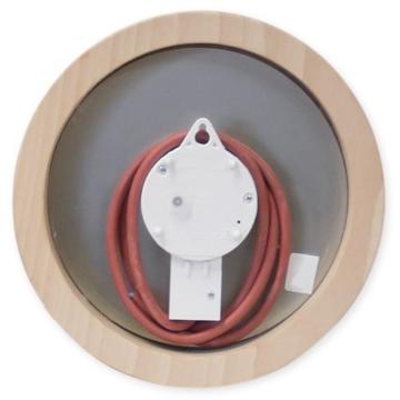 Saunauhr Wanduhr elektrisch Sauna Uhr rund 210 mm - 2