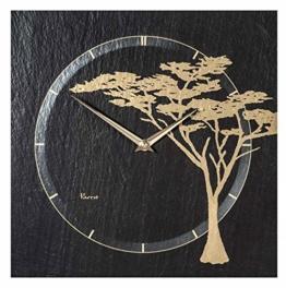 Vaerst 2841 Quartz Wanduhr 30 x 30 cm aus Naturschiefer - 1