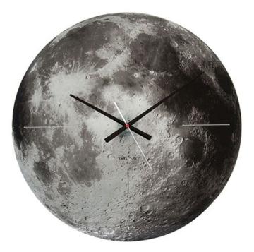 Karlsson KA5475 Wanduhr Moon Glas grau, 4 x 60 x 60 cm -