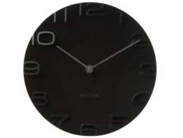 Karlsson KA5311BK Wanduhr On The Edge, schwarz mit Zeiger, chrom -