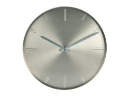 KARLSSON KA5594SI Wanduhr Belt Metall 3.5 x 40 x 40 cm, silber -