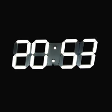Redlution Große Led Uhr Wanduhr Fernbedienung Jumbo Großen Zahlen 3d