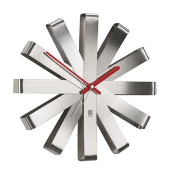 Umbra 118070-590 Ribbon Wanduhr Edelstahl Durchmesser 30 cm nickel -