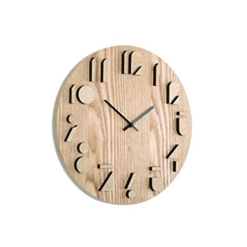 Umbra 118080-390 Wall Display Shadow Wanduhr, Küchenuhr, Wohnzimmeruhr, Uhr, Paulownia Holz, natur -