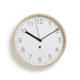Umbra 118140-668 Rimwood Uhr mit Standfuß, Holz, natur / weiß -
