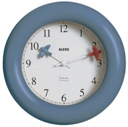 "Alessi ""Kitchen clock"" Wanduhr, blau -"