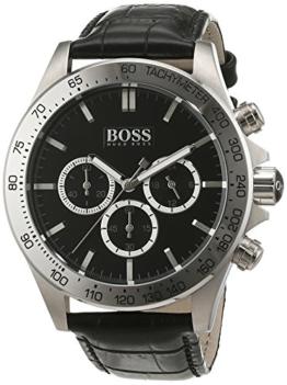 Boss Herren-Armbanduhr Chronograph Quarz Leder 1513178 -