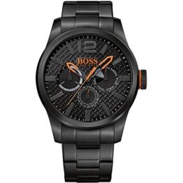 BOSS Orange Herren-Armbanduhr PARIS Multieye Analog Quarz Edelstahl beschichtet 1513239 -