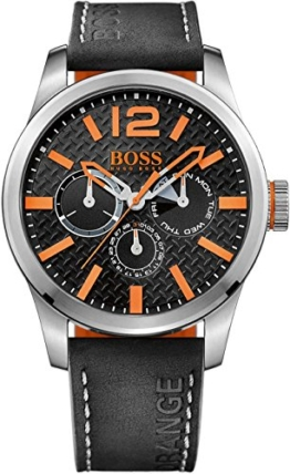 BOSS Orange Herren-Armbanduhr PARIS Multieye Analog Quarz Leder 1513228 -
