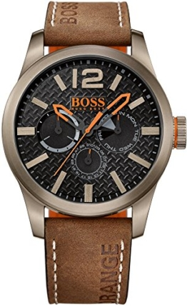 BOSS Orange Herren-Armbanduhr PARIS Multieye Analog Quarz Leder 1513240 -