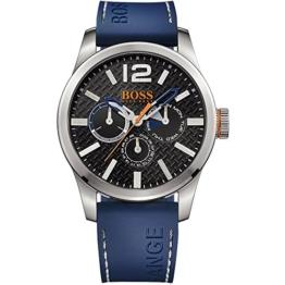 BOSS Orange Herren-Armbanduhr PARIS Multieye Analog Quarz Silikon 1513250 -