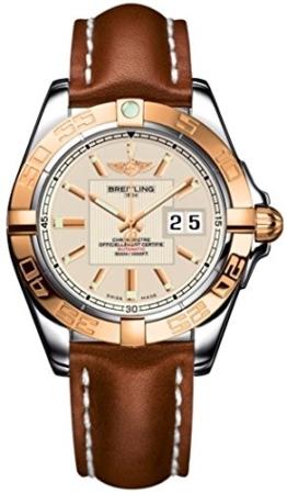 Breitling Herren-Armbanduhr Breitling Galactic 41 Analog Automatik Leder Braun C49350L2/G701/425X -
