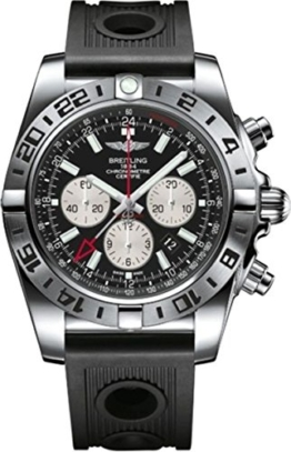 Breitling Herren-Armbanduhr Chronomat Chronograph Automatik Kautschuk AB0413B9/BD17/201S -