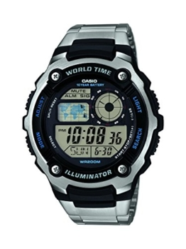 Casio Herren-Armbanduhr Collection Digital Quarz Edelstahl AE-2100WD-1AVEF -