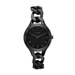 DKNY Damen-Armbanduhr Analog Quarz Edelstahl beschichtet NY2219 -