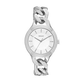 DKNY Damen-Armbanduhr Analog Quarz Edelstahl NY2216 -