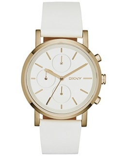 DKNY Damen-Armbanduhr Soho Chronograph Quarz Leder NY2337 -